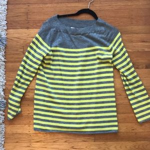 Striped yellow and grey gap sweater